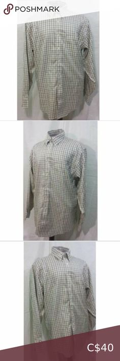 Brooks Brothers Green Plaid Button Down Shirt L Casual Shirts For Men, Casual Button Down Shirts, Golf Skirts, Plaid Fabric, Orange And Purple, Brooks Brothers, Colorful Shirts, Fashion, Moda