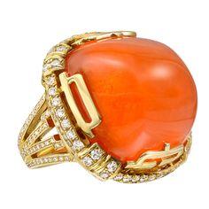 1stdibs | Goshwara Large Mandarin Garnet Cocktail Ring
