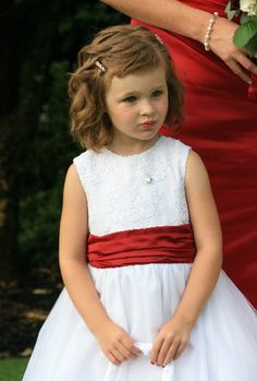 Love the red sash for a flowergirl! Perfect for Valentine's Day. Image captured by Captivation Photo Studio. Red Wedding, Wedding Day, Valentines Day Weddings, Heart Decorations, Wedding Trends, Photo Studio, Event Decor, Frocks, Red And White