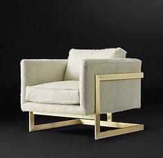Milo Baughman Model #3426, 1968 Hair-on-Hide Chair