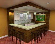 Check Out 35 Best Home Bar Design Ideas. Home bar designs offer great pleasure and a stylish way to entertain at home. Home bar designs add values to homes and beautify the game room and basement living spaces. Basement Sports Bar, Rustic Basement Bar, Basement Bar Plans, Basement Bar Designs, Modern Basement, Home Bar Designs, Basement Remodeling, Basement Ideas, Basement Bars