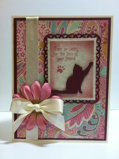 Loss of pet sympathy card~AS (Making Memories Slice die cut, Spellbinders dies, Clear Dollar Stamps)