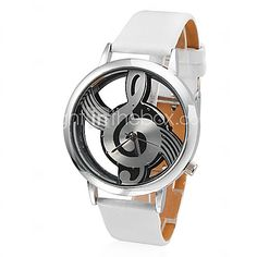 USD $ 5.99 - Women's Watch Fashion Hollow Musical Note Style Dial