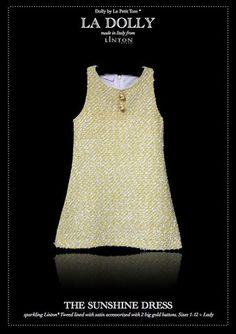 LA DOLLY 'SUNSHINE DRESS' from Linton Tweed® - yellow