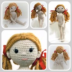 **This is a PDF PATTERN only. This listing is not for a finished product**  This pattern is written in English language - US terminology and comes with guiding pictures. For more information on the pattern, please look at the photos in the preview.  Crocheted with the suggested yarn, your doll will be approximately 25 cm tall, but you can vary the size by using any other type of yarn. You will get two pdfs with this pattern. The Pantie pattern is a bonus, so dont miss out on them! :)  I…