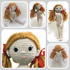 Crochet doll, crochet girl, amigurumi girl - The Zizidora Doll, Amigurumi Pattern, Doll Crochet Pattern, Amigurumi doll, Jointed doll