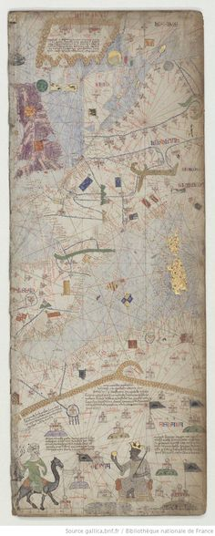 Atlas catalan exécuté vers 1375 VILADESTES, Meciá 1301-1400 [Timbuktu - Catalan map, 1375]