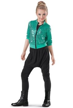 Weissman™ | Sequin Bomber Jacket & Harem Pants