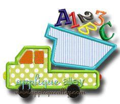 ABC DUMPY DUMPTRUCK Applique alley