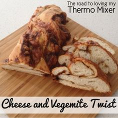 Do your kiddies like Vegemite and cheese scrolls? They will love this Cheese and Vegemite Twist if so! My boys love this twist and request it all the time Vegemite Scrolls, Bread Twists, Thermomix Bread, Lunch Box Recipes, Lunchbox Ideas, How To Make Dough, Herb Bread, Savory Snacks, Tray Bakes