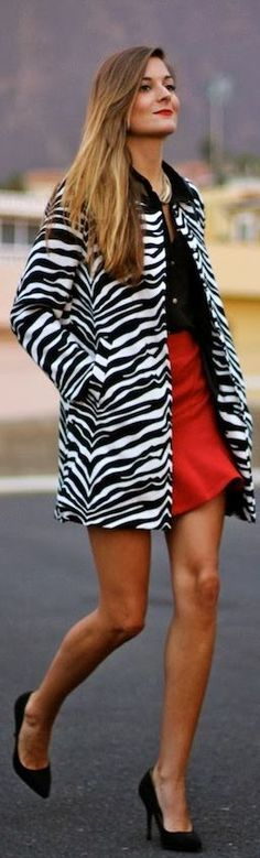Zebra Coat by Marilyn's Closet♥✤ | KeepSmiling | BeStayClassy