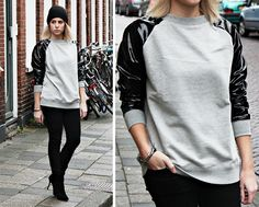 Leather Sweater (by Fashion Hoax) http://lookbook.nu/look/4386037-Leather-Sweater