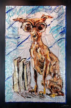 "Simon Raab ""Ivy League"" 2007 www.parleau.com #simonraab #parleau #art #dog Ivy League, Moose Art, Wall, Dogs, Animals, Animales, Animaux, Pet Dogs, Doggies"
