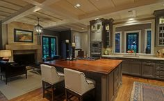 Kitchens With Fireplaces Design Ideas, Pictures, Remodel, and Decor - page 3