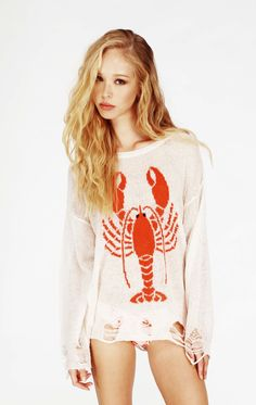 LOBSTER LENON SWEATER - Wildfox