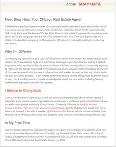Agent Bio  Real Estate    Real Estate
