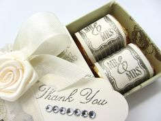 Stampin' Up! Matchbox Wedding Favor with some embossing