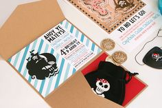 Pirate Birthday Party Invitations SO CUTE!