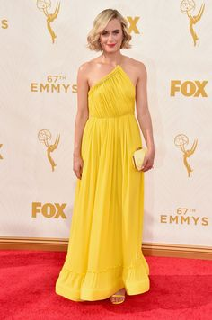 Yellow Stella McCartney at the 2015 Emmy Awards - Style Crush  Taylor  Schilling on the Red Carpet - Photos 5a86806cb834