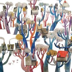Tree houses by Felicita Sala by catbirdagencypix