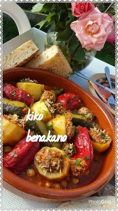 Légumes farcis à la viande hachée Dolma Algerienne Turkish Recipes, Ethnic Recipes, Algerian Recipes, Marmite, Moussaka, Arabic Food, Food Preparation, Couscous, Food Videos
