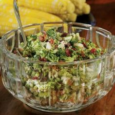 Broccoli-Bacon Salad - I love this. I buy a bag of broccoli slaw and use that in place of chopping up broccoli