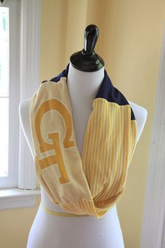 Georgia Tech Yellow Jackets Infinity Scarf by TailgateTees on Etsy, $30.00