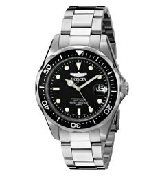 Invicta Men's 8932 Pro Diver Collection Stainless Steel Bracelet Watch Big, bold and masculine, the Invicta Quartz Pro Diver 8932 is an affordable luxury watch Best Watches For Men, Cool Watches, Men's Watches, Citizen Watches, Dress Watches, Best Watch Brands, Look Man, Affordable Watches, Waterproof Watch