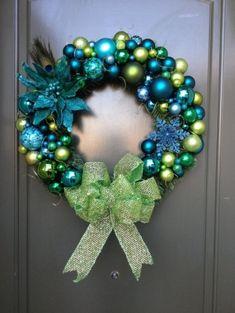 Peacock themed christmas wreath!