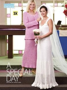 Y024 Crochet PATTERN ONLY Wedding Gown and Mother Suit Plus Sizes | BeadedBundles - Craft Supplies on ArtFire