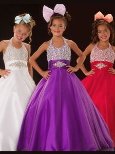 This is sure to be a winner at your little girls beauty pageant! Sugar dress 81527 is available in a bold purple that will stand out of the ordinary white pageant dress crowd! The red would be amazing on a size 12 pageant girl and really show off her inner diva! This is also a great pick for a budget savvy pageant mom with a low online price of $398.00! Get everything she needs at your one stop pageant shop!