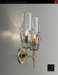 Chaillot Double Sconce