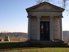 Mausoleum in Grandview Cemetery.