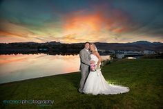 Las Vegas Event and Wedding Photographer - Exceed Photography - Lake Las Vegas, bride and Groom photos by the lake, sunset by the lake