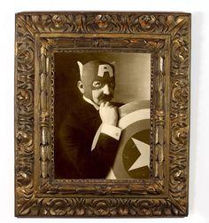 """Vintage superhero photographs, """"Nonno Scudo"""" (""""Grandfather Shield"""") pictured"""
