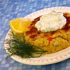Salmon Patties With Dill Sauce Allrecipes.com