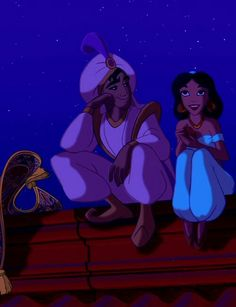 Alladin-- i love how he is just look at her. <3