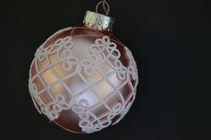 Christmas tree ball ornament - The Noel. $15.00, via Etsy.