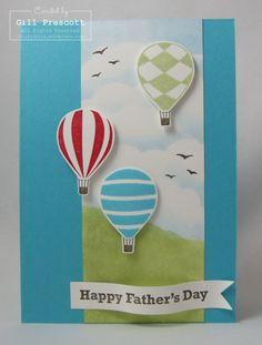 Stampin Up - up, up and away Fathers' day