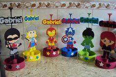 Superhero Party Bags, Superhero Party Decorations, Superhero Birthday Party, Birthday Party Decorations, Happy Birthday Baby, First Birthday Parties, Iron Man Party, Hulk Party, Avengers Birthday