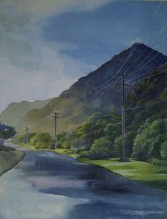 Piha after rain, NZ Acrylic on canvas