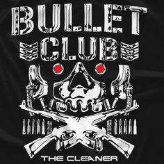distributor for New Japan Pro-Wrestling apparel. Get your favorite Bullet Club t-shirts exclusively here! Bullet Club T Shirt, Bullet Club Logo, Kenny Omega, Japan Pro Wrestling, Wrestling Stars, Wwe Wallpapers, John Cena, Vinyl Designs, Shirt Shop