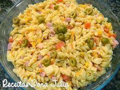 #bomdia #receitas #receitasdonajulia RECEITAS DONA JULIA - Blog de Culinária Gastronomia e Receitas.: MACARRONESE