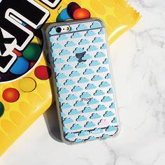 Soft Jelly Clear Design Phone Case - Clouds