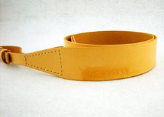 MicDesign UNIQUE sandy brown vegetable tanned Leather Camera Strap available in DSLR/Film camera , $48.80