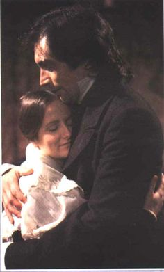 Zelah Clark (Jane Eyre)  Timothy Dalton (Mr. Edward Fairfax Rochester)- Jane Eyre directed by Julian Amyes (TV Mini-Series, 1983) #charlottebronte