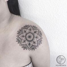 Shoulder Tattoo Design by Karry Ka-Ying Shoulder Tats, Cool Shoulder Tattoos, Mens Shoulder Tattoo, Shoulder Tattoos For Women, Shoulder Strap, Nape Tattoo, Head Tattoos, Finger Tattoos, Sleeve Tattoos