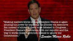 You tell 'em, Marco Rubio!!  I love Marco Rubio!