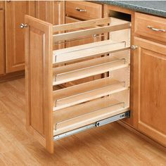 Kitchen Cabinet Remodel Base Cabinet Pullout Organizers, Rev-a-Shelf 448 Series-Pullout Organizers New Kitchen Cabinets, Kitchen Cabinet Organization, Built In Cabinets, Base Cabinets, Kitchen Storage, Kitchen Decor, Cabinet Organizers, Cabinet Ideas, Food Storage