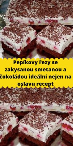 Czech Recipes, Ham, Recipies, Cheesecake, Deserts, Food And Drink, Sweets, Baking, Cakes